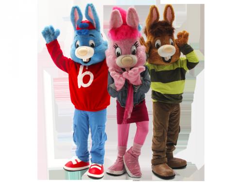 Bobo Tjerk en Krabbel, Meet & Greet, entertainment voor kinderen, winkelcentrumpromotie, mascotte