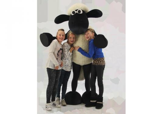 shaun het schaap, winkelcentrumpromotie, meet en greet, kinderentertainment