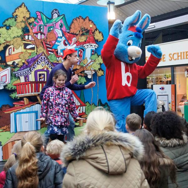 Kindershow, kindershow huren, kindershow inhuren, winkelcentrumpromotie, entertainment voor kinderen, bedrijfsfeest, open dag, festival