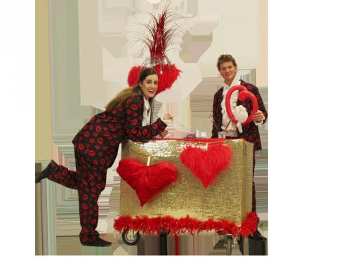 Valentijnentertainment, winkelcentrumpromotie, winkelcentrum entertainment, love mobiel