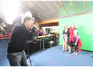 winkelcentrum promotie, winkelcentrum entertainment, green screen fotostudio