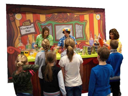 kindertraktatie, kinderentertainment, winkelcentrum entertainment