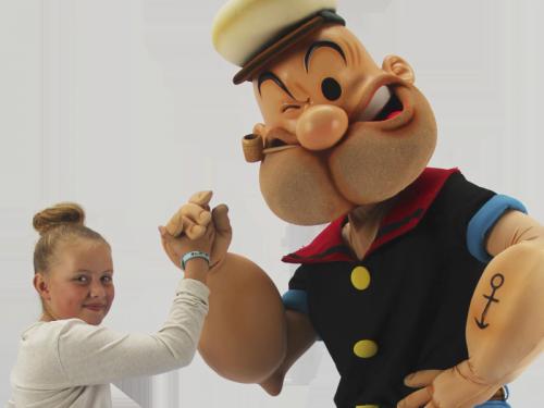 Popeye, kindershow, Kindershows, winkelcentrumpromotie