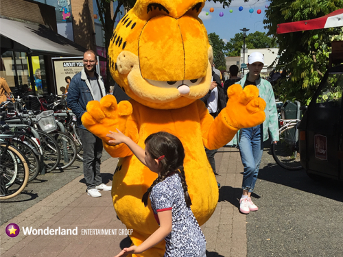 garfield meet en greet, winkelcentrumpromotie, kinderentertainment,
