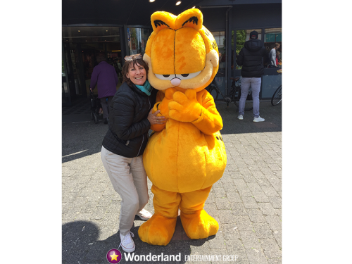 Garfield meet & greet, winkelcentrum promotie, entertainment, meet & greet